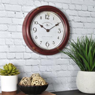 FirsTime® Red Patina Wall Clock