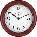 FirsTime® Red Patina Wall Clock