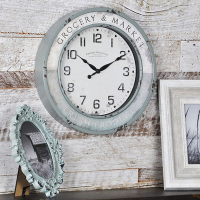 FirsTime® Vintage Grocery Wall Clock