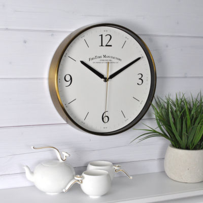 FirsTime® Gold Metal Wall Clock