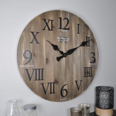 FirsTime® Rustic Barnwood Wall Clock