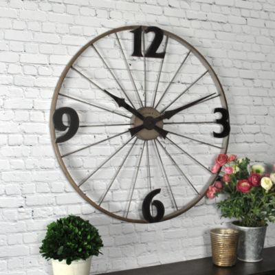 FirsTime® Bicycle Wheel Wall Clock