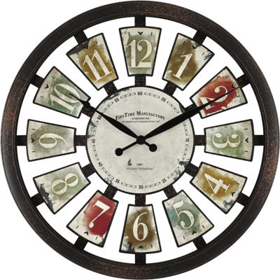 FirsTime® Palette Plaques Wall Clock