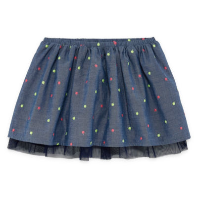 Okie Dokie Chambray Tutu Skirt - Toddler Girls