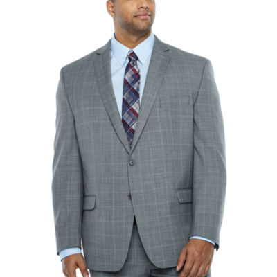 Collection by Michael Strahan  Checked Classic Fit Suit Jacket-Big and Tall