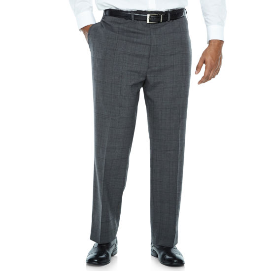 Claiborne Checked Suit Pants - Big and Tall