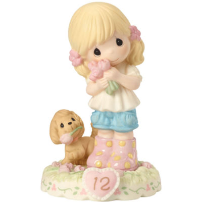 """Precious Moments  """"Growing In Grace  Age 12""""Bisque Porcelain Figurine  Blonde Girl  #162011"""