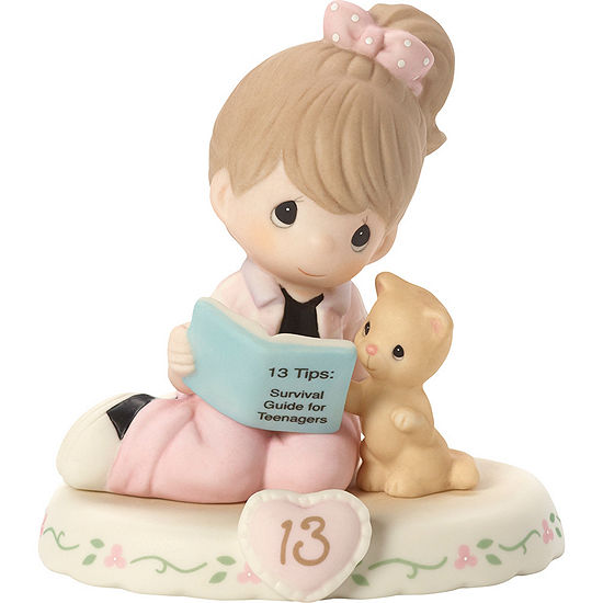 """Precious Moments  """"Growing In Grace  Age 13""""Bisque Porcelain Figurine  Brunette Girl  #162012B"""
