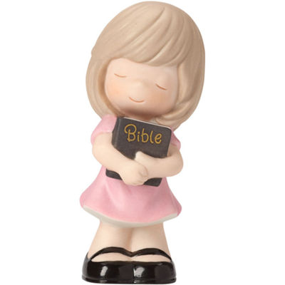 "Precious Moments  ""Let His Words Guide You""  Bisque Porcelain Figurine  Girl  #162020"
