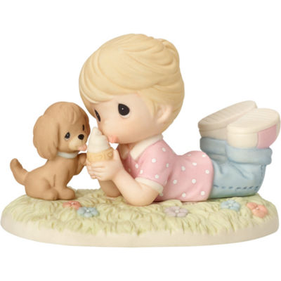 """Precious Moments  """"Ice Cream With Joy When You're With Me""""  Bisque Porcelain Figurine  #162008"""