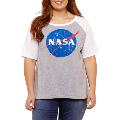 Short Sleeve NASA Graphic T-Shirt- Juniors Plus