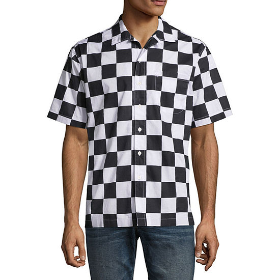 Arizona Mens Short Sleeve Button-Down Shirt