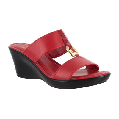 Easy Street Womens Calla Wedge Sandals