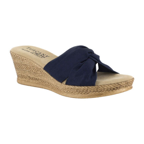 Easy Street Womens Dinah Wedge Sandals