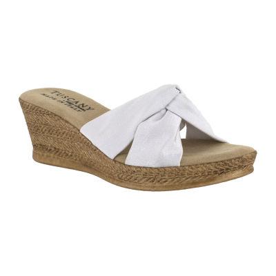 Easy Street Womens Dinah Wedge Sandals