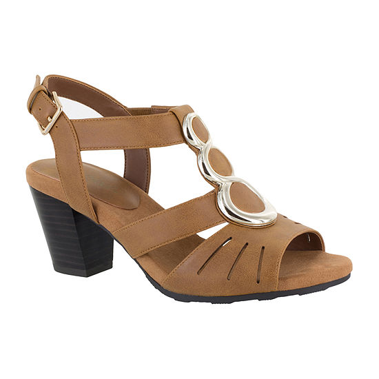Easy Street Womens Casey Heeled Sandals