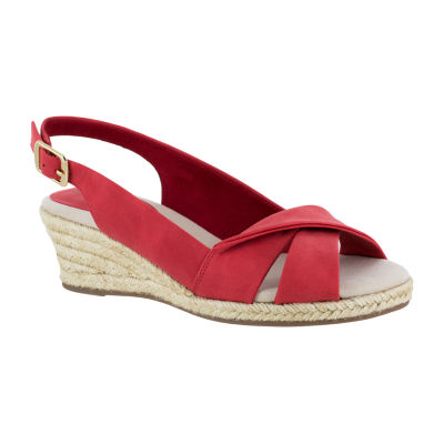 Easy Street Womens Maureen Wedge Sandals