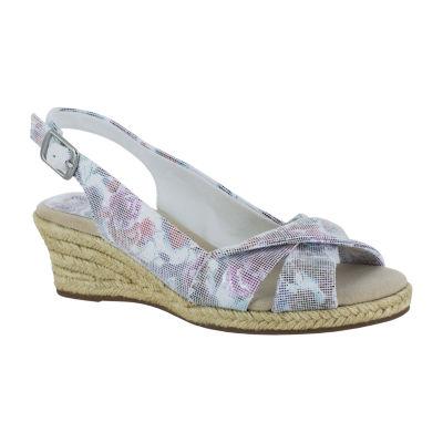 Easy Street Womens Maureen Wedge Sandals