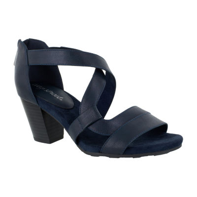 Easy Street Womens Amuse Heeled Sandals