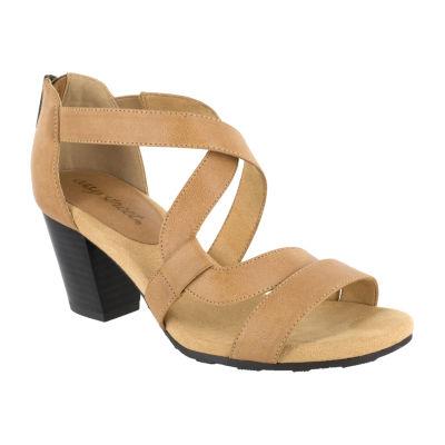 Easy Street Womens Amuse Heeled Sandals
