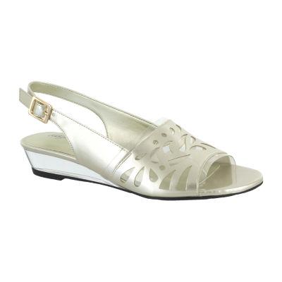 Easy Street Womens Celebrate Wedge Sandals