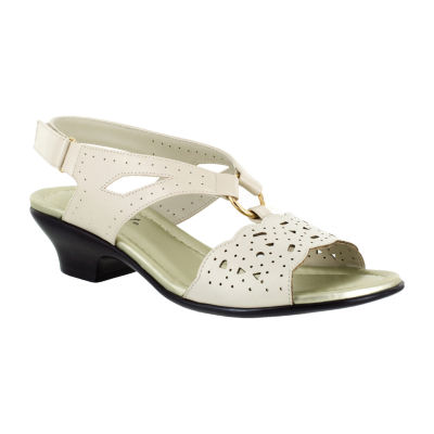 Easy Street Womens Excite Heeled Sandals