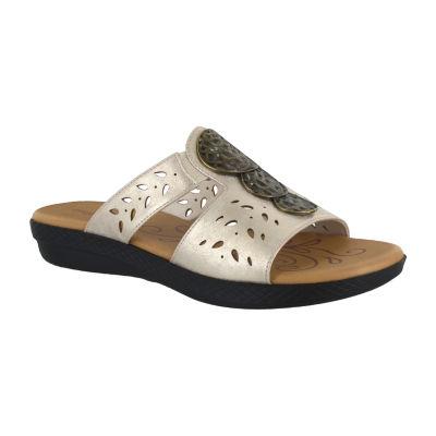 Easy Street Womens June Flat Sandals