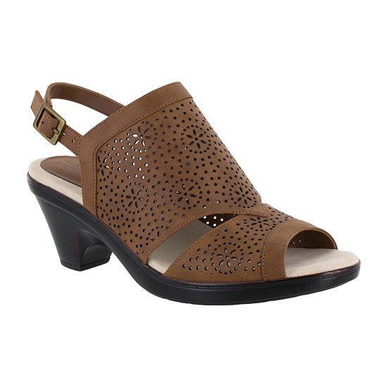Easy Street Womens Linda Heeled Sandals