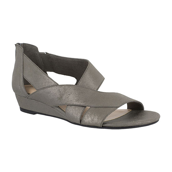 Easy Street Womens Carol Wedge Sandals