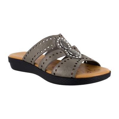 Easy Street Womens Vara Flat Sandals