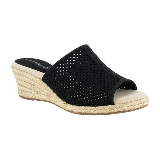 Easy Street Womens Mandy Wedge Sandals