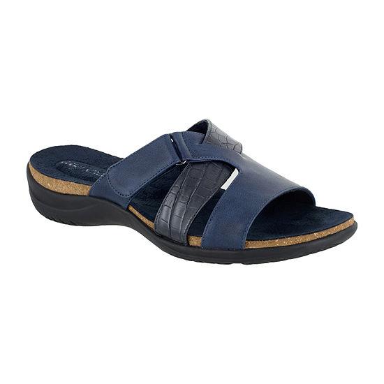 Easy Street Womens Frenzy Slide Sandals