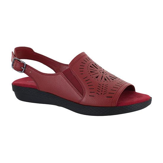 4dd05b6c04e5 Easy Street Womens Rose Adjustable Strap Flat Sandals - JCPenney