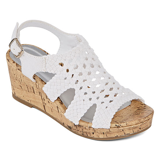 Arizona Little Kid/Big Kid Girls Dallas Wedge Sandals