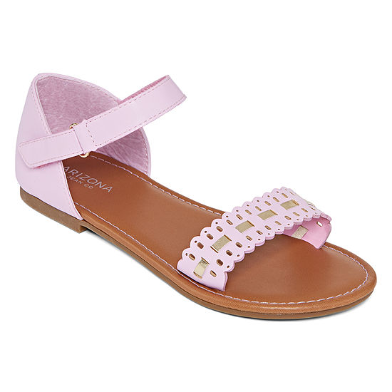 Arizona Little Kids Girls Butter Flat Sandals