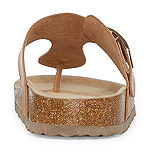 Arizona French Womens T-Strap Footbed Sandals