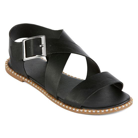 Arizona Womens Malta Criss Cross Strap Flat Sandals