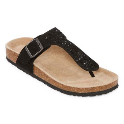 Arizona Freddy Womens T-Strap Footbed Sandals