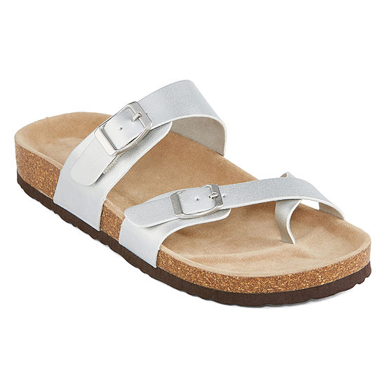 f17271c65092 Arizona Fargo Womens Adjustable Strap Footbed Sandals - JCPenney