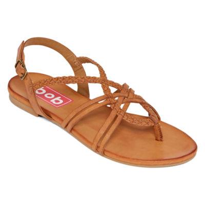 Pop Womens Madsen Adjustable Strap Flat Sandals