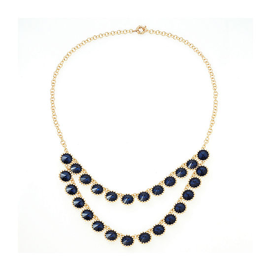 Bijoux Bar Womens Blue Beaded Necklace