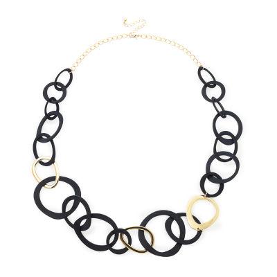 Bijoux Bar Womens 10 Inch Link Necklace