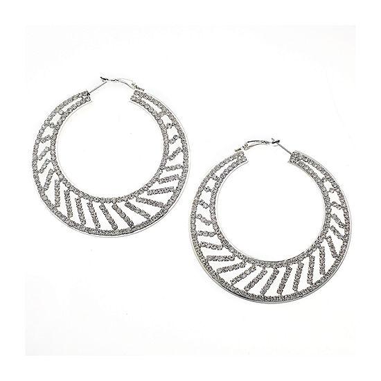 Bijoux Bar Clear 2 1 2 Inch Hoop Earrings