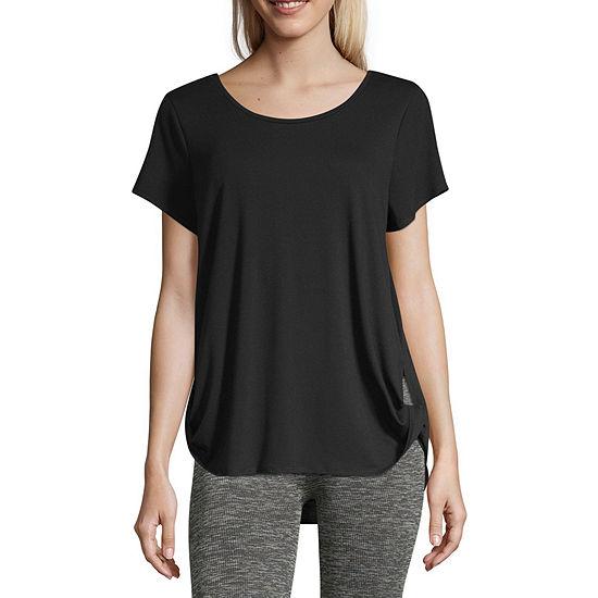 Xersion Side Twist Short Sleeve Tee - Tall