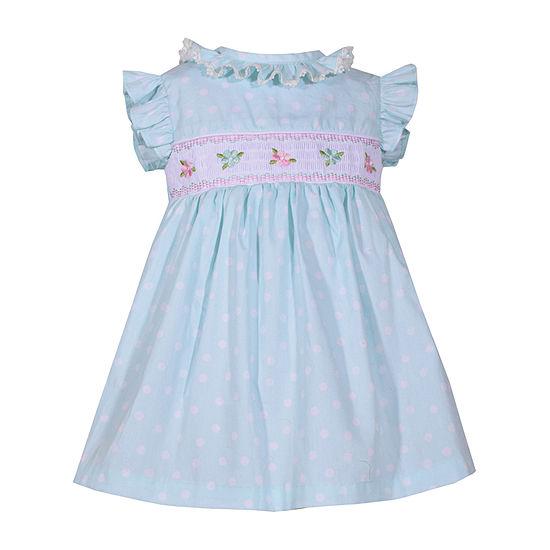 Bonnie Jean Girls Short Sleeve Floral A-Line Dress - Baby