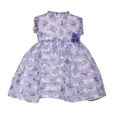 Bonnie Jean Sleeveless Floral A-Line Dress - Baby Girls