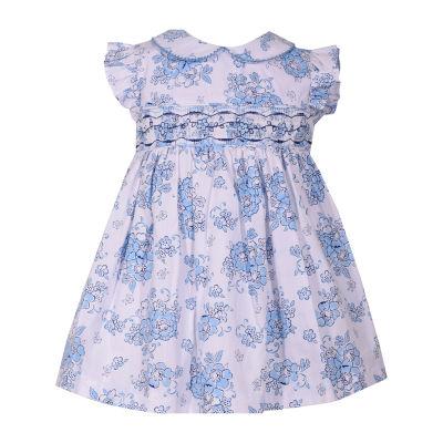 Bonnie Jean Short Sleeve Floral A-Line Dress Girls