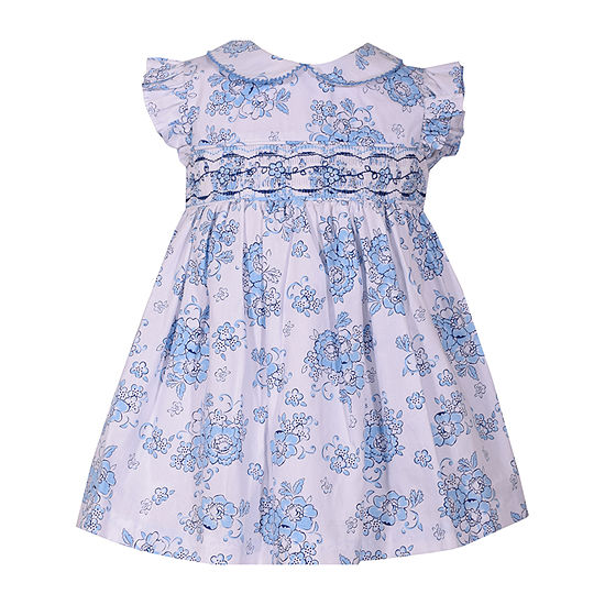 Bonnie Jean Girls Short Sleeve Floral A-Line Dress - Baby