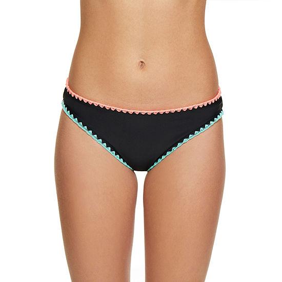 Arizona Bordered Hipster Swimsuit Bottom-Juniors