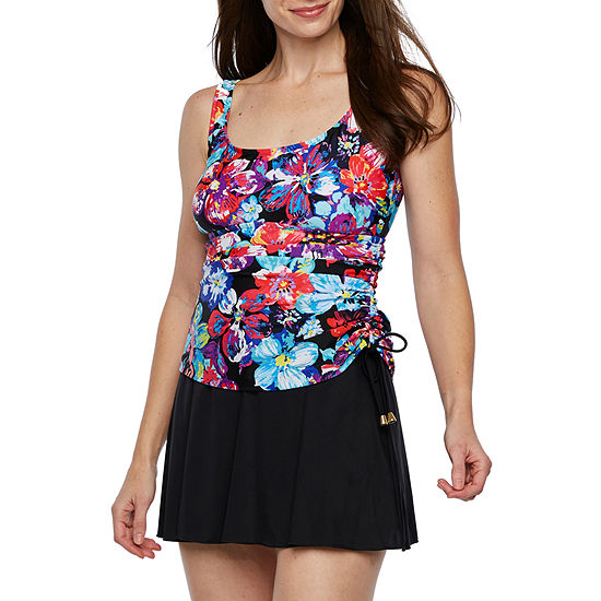 Azul by Maxine of Hollywood Abstract Swim Dress